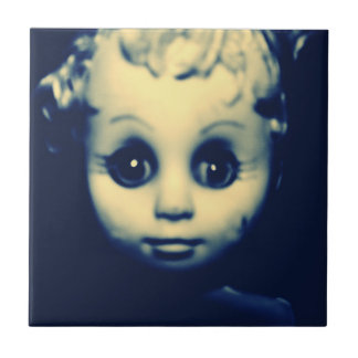 Candie Little Haunted Doll Tile,Original Dark Art Tile