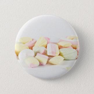 Candies marshmallows 6 cm round badge