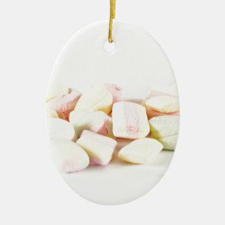 Candies marshmallows ceramic ornament