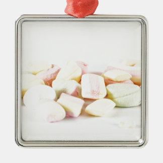 Candies marshmallows metal ornament