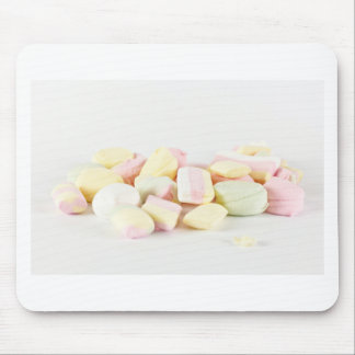 Candies marshmallows mouse pad