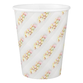 Candies marshmallows paper cup