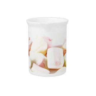 Candies marshmallows pitcher