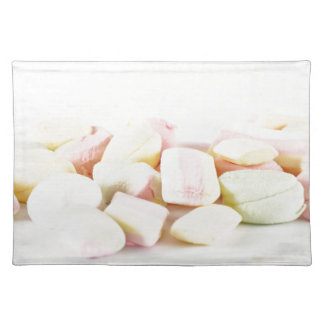 Candies marshmallows placemat