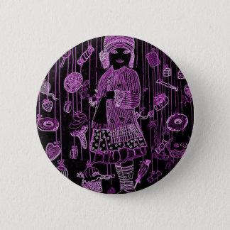 candies party néon 6 cm round badge