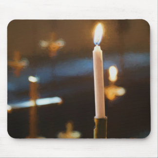 Candle and Cross Mouse Pad