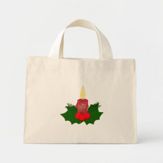 Candle And Holly Bag