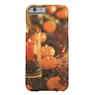 Candle and miniature pumpkins barely there iPhone 6 case