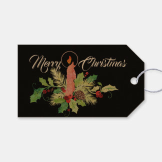 Candle Arrangement Personalized Christmas Gift Tag