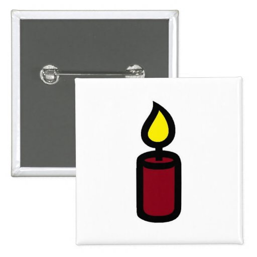 candle dark red pins