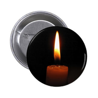 Candle Flame 6 Cm Round Badge