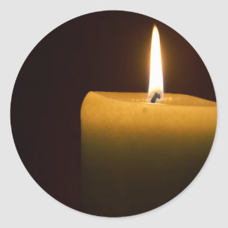 Candle Flame Round Sticker