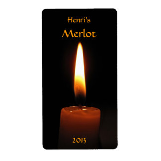 Candle Flame Wine Label