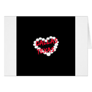 Candle Heart Design For Dallas, Texas Card