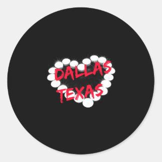 Candle Heart Design For Dallas, Texas Classic Round Sticker