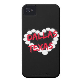 Candle Heart Design For Dallas, Texas iPhone 4 Case-Mate Cases