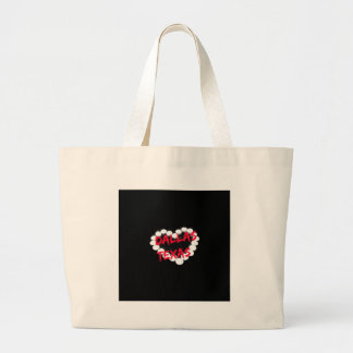 Candle Heart Design For Dallas, Texas Large Tote Bag