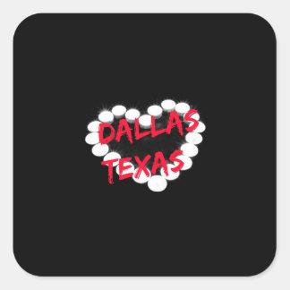 Candle Heart Design For Dallas, Texas Square Sticker