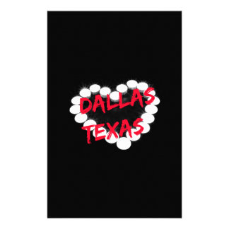 Candle Heart Design For Dallas, Texas Stationery
