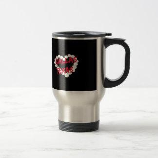 Candle Heart Design For Dallas, Texas Travel Mug