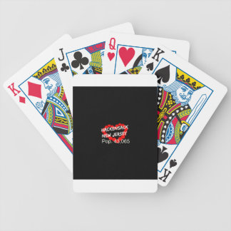 Candle Heart Design For Hackensack, New Jersey Bicycle Playing Cards