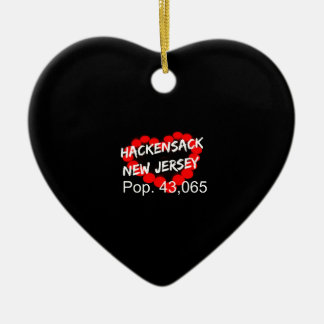 Candle Heart Design For Hackensack, New Jersey Ceramic Ornament