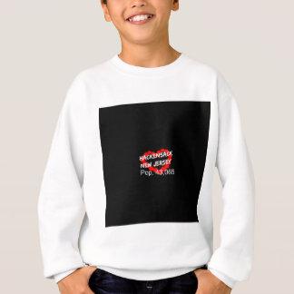 Candle Heart Design For Hackensack, New Jersey Sweatshirt