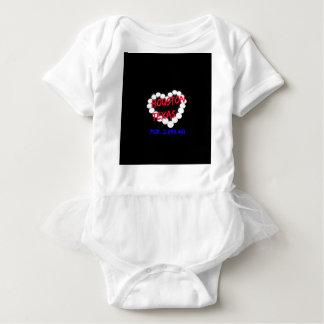 Candle Heart Design For Houston, Texas Baby Bodysuit