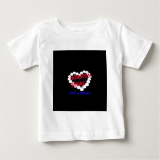 Candle Heart Design For Houston, Texas Baby T-Shirt