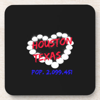Candle Heart Design For Houston, Texas Coaster