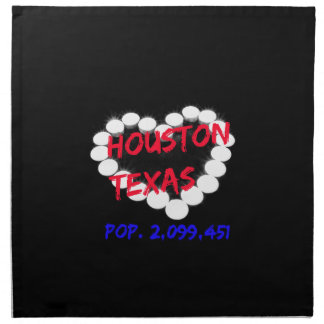 Candle Heart Design For Houston, Texas Napkin