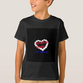 Candle Heart Design For Houston, Texas T-Shirt
