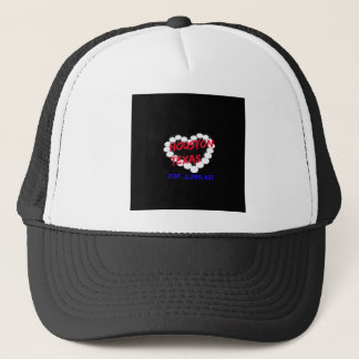 Candle Heart Design For Houston, Texas Trucker Hat