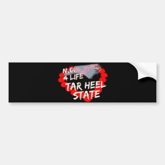 Candle Heart Design For North Carolina State Bumper Sticker
