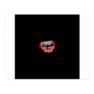 Candle Heart Design For North Carolina State Postcard