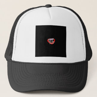 Candle Heart Design For North Carolina State Trucker Hat
