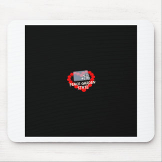 Candle Heart Design For North Dakota State Mouse Pad