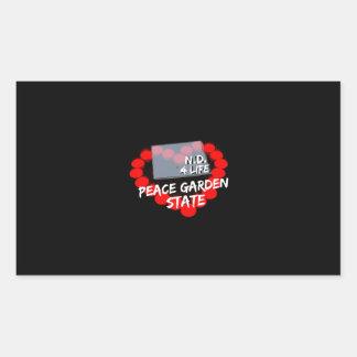 Candle Heart Design For North Dakota State Rectangular Sticker