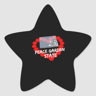 Candle Heart Design For North Dakota State Star Sticker