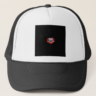 Candle Heart Design For North Dakota State Trucker Hat