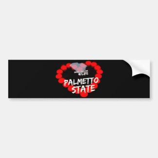 Candle Heart Design For South Carolina State Bumper Sticker