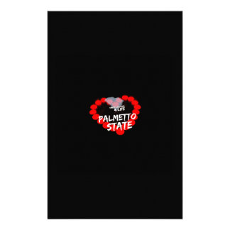 Candle Heart Design For South Carolina State Personalized Stationery
