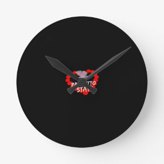 Candle Heart Design For South Carolina State Round Clock
