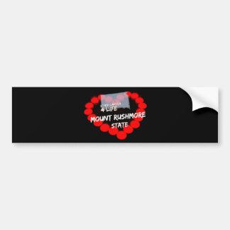 Candle Heart Design For South Dakota State Bumper Sticker