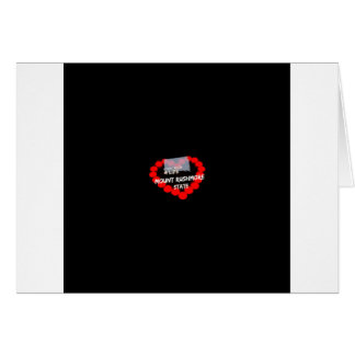 Candle Heart Design For South Dakota State Card