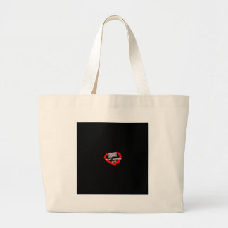 Candle Heart Design For South Dakota State Large Tote Bag
