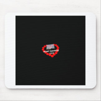 Candle Heart Design For South Dakota State Mouse Pad