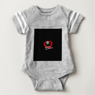 Candle Heart Design For The State of Alaska Baby Bodysuit
