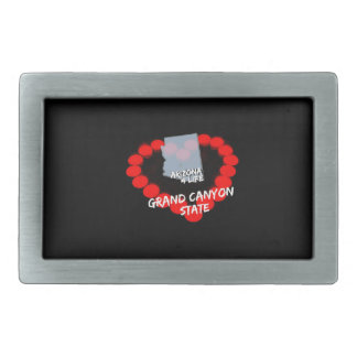 Candle Heart Design For The State of Arizona Belt Buckle