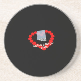 Candle Heart Design For The State of Arizona Coaster